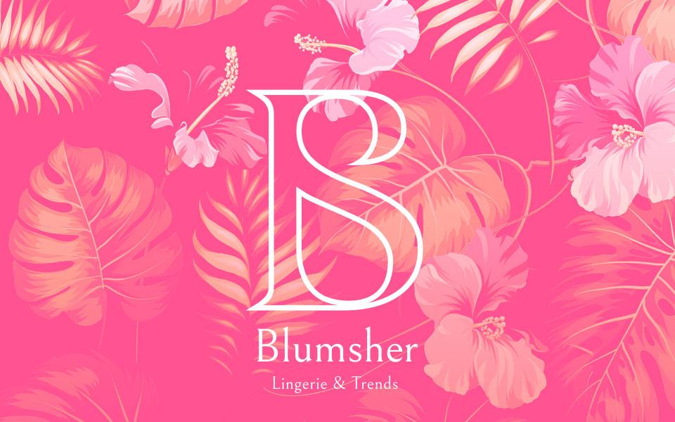 diseño de logo Blumsher