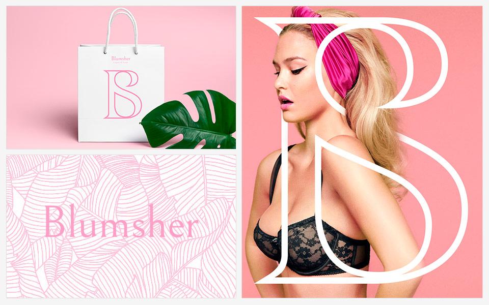 Ejemplos diseño de identidad Blumsher