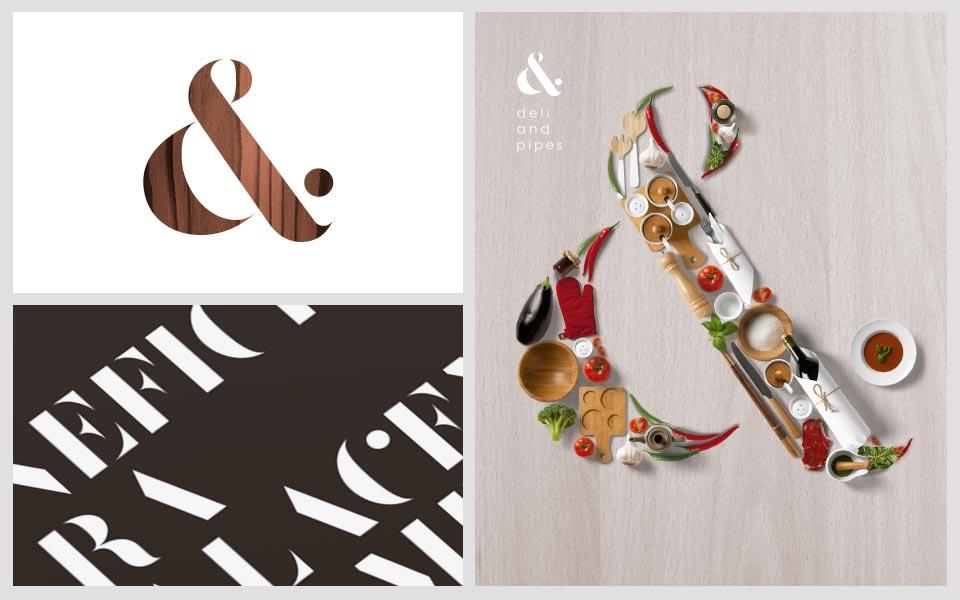 Ejemplos diseño de identidad Deli and Pipes