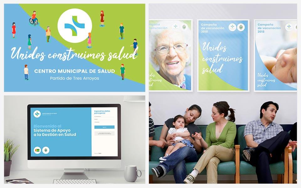 Ejemplos diseño de identidad Centro Municipal de Salud