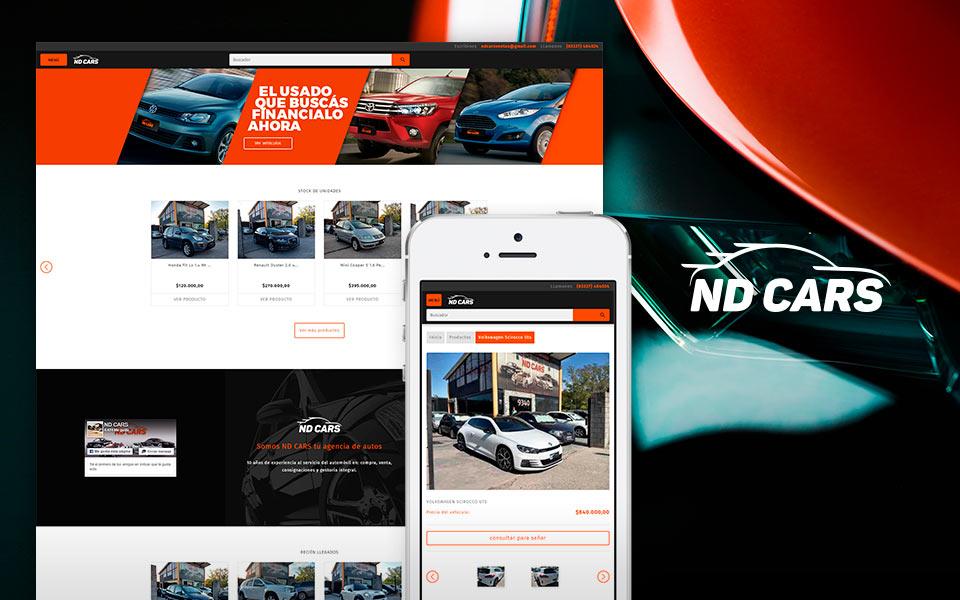 Cliente NDCars tienda online