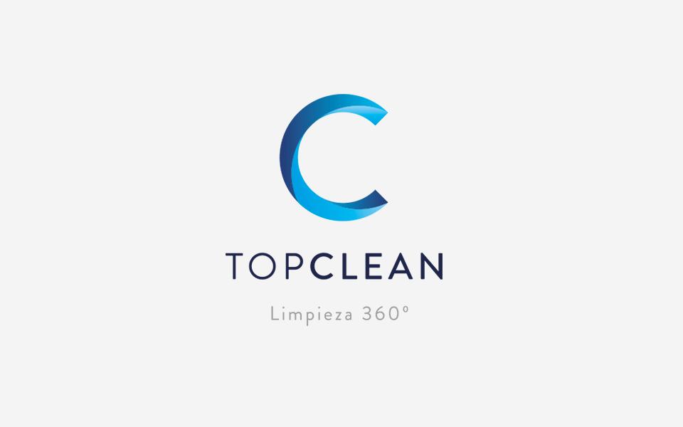 diseño de logo Top Clean