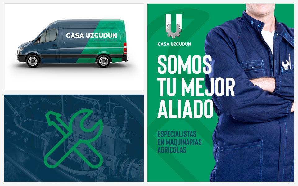 Ejemplos diseño de identidad Casa Uzcudun