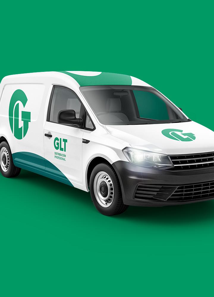 Portada del proyecto de Diseño de Identidad Corporativa, Branding y Desarrollo Web de: GLT, Distribución Profesional.