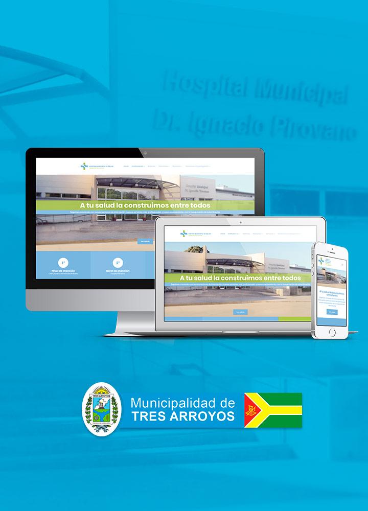Portada del proyecto de Diseño de Identidad Corporativa, Branding, Desarrollo Web y Social Media de: Hospital Pirovano, Centro de Salud Partido de Tres Arroyos.