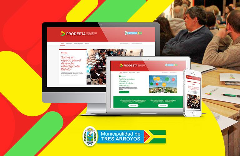 Proyecto destacado de desarrollo Web: Prodesta, espacio para el desarrollo estratégico de Tres Arroyos