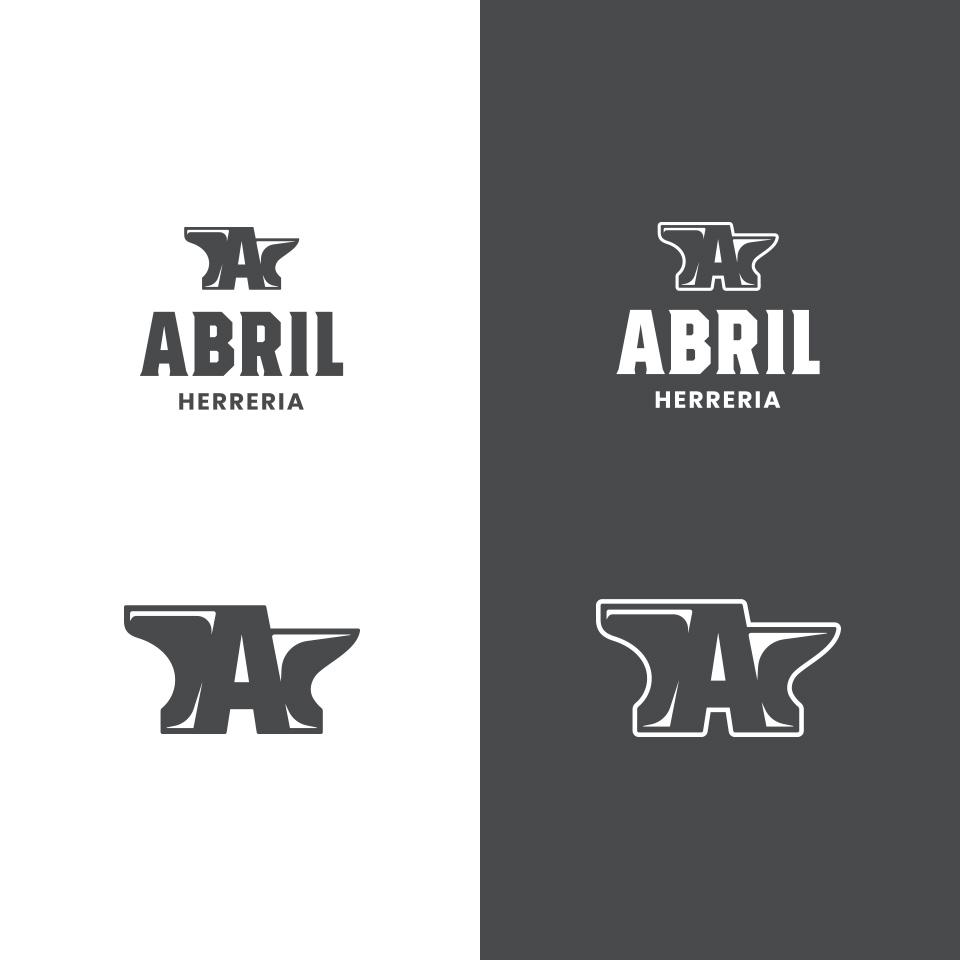 Diseño de Aplicaciones de Logo para Abril Herrería.