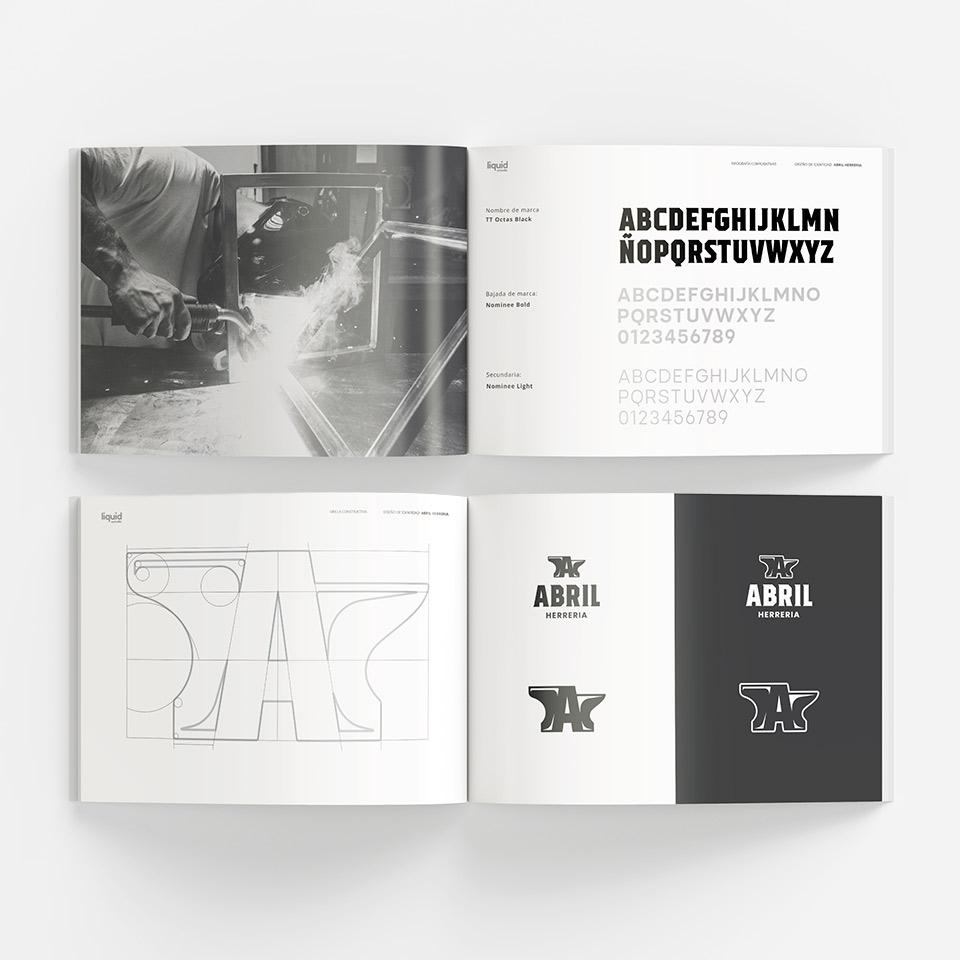 Diseño del Manual de marca para Abril Herrería.