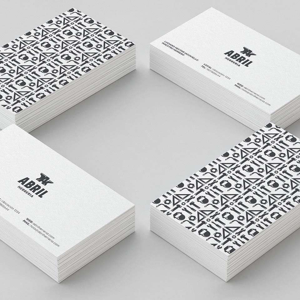 Diseño de Tarjetas personales para Abril Herrería.