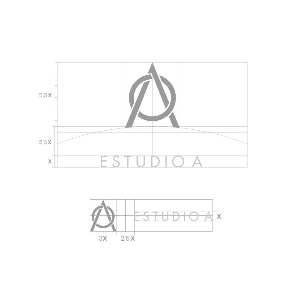 Diseño de Grilla del Logo en sus diferentes Aplicaciones para Estudio Integral A, Servicios Contables.