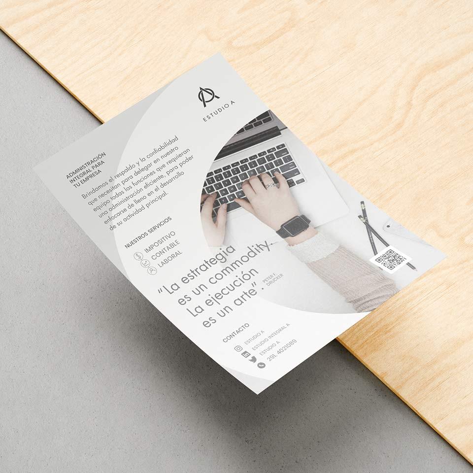 Diseño de Flyer promocional para Estudio Integral A, Servicios Contables.