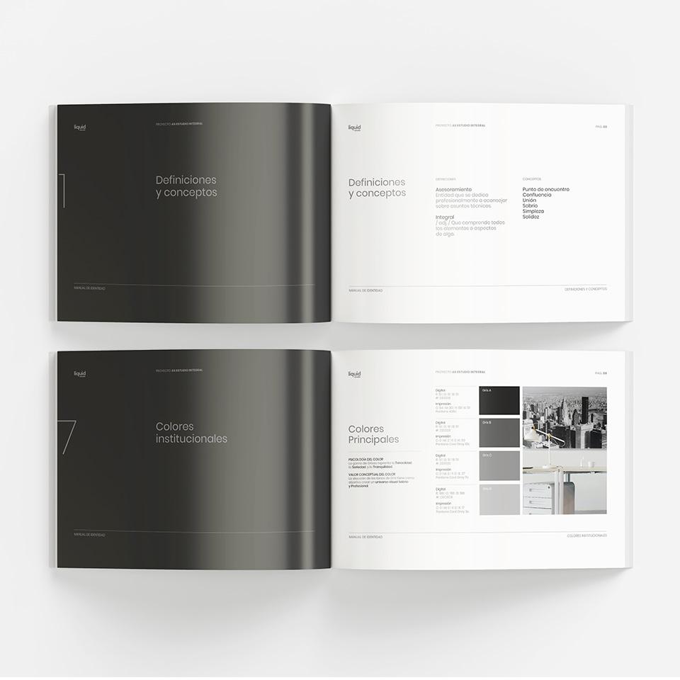 Diseño de Manual de Marca para Estudio Integral A, Servicios Contables.