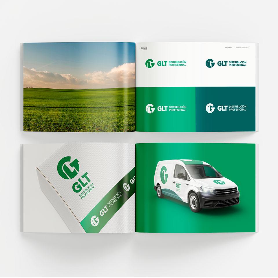 Diseño del Manual de marca para GLT Distribuidora.