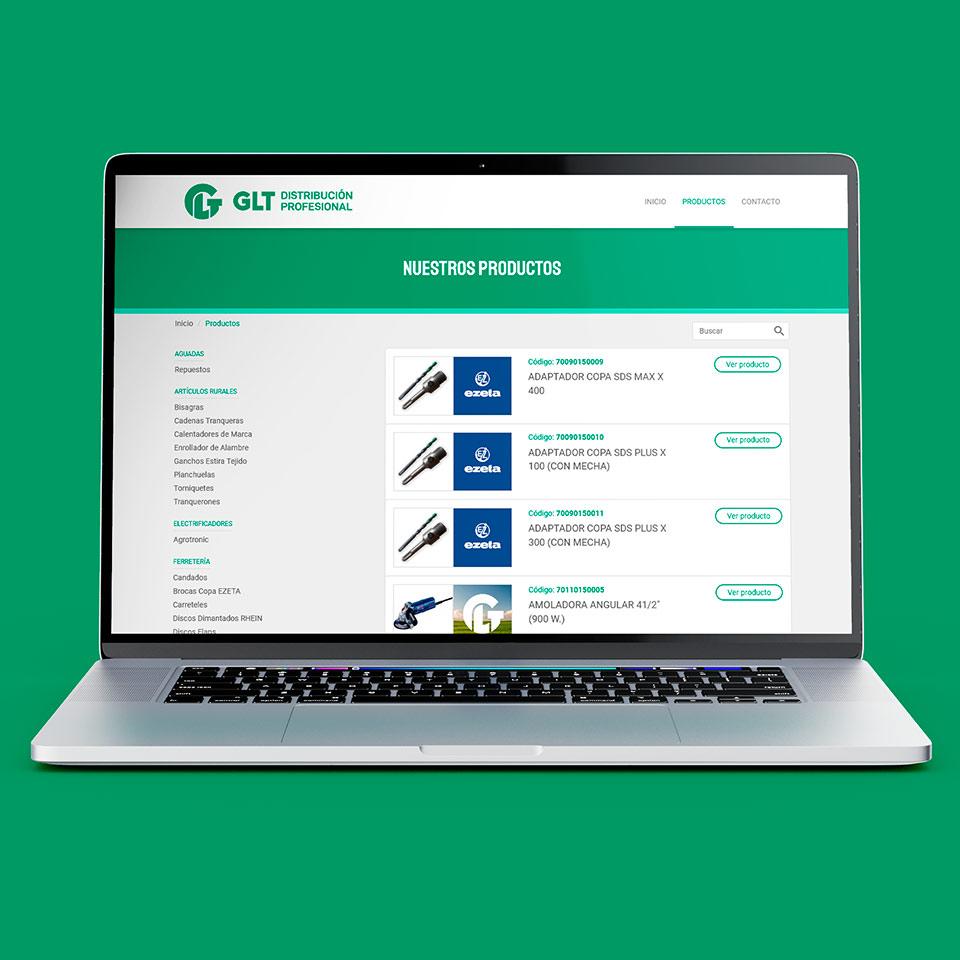 Diseño de Catálogo de Productos Web para GLT Distribuidora.