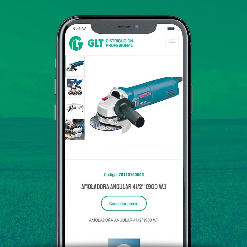 Diseño de Web Responsive para GLT Distribuidora.