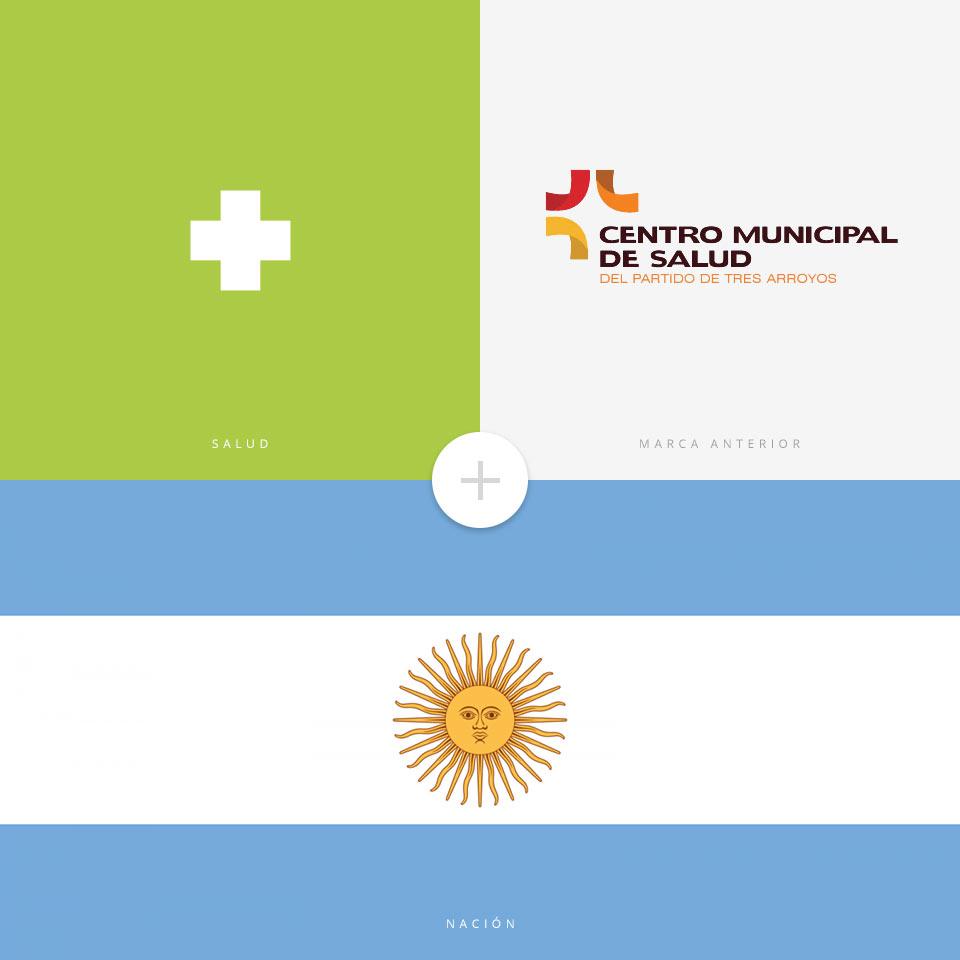concepto de logo proyecto Centro de Salud partido de Tres Arroyos