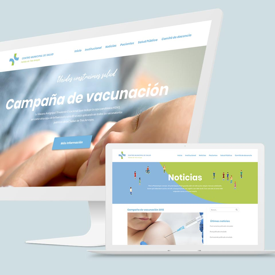 desarrollo web institucional proyecto Centro de Salud partido de Tres Arroyos