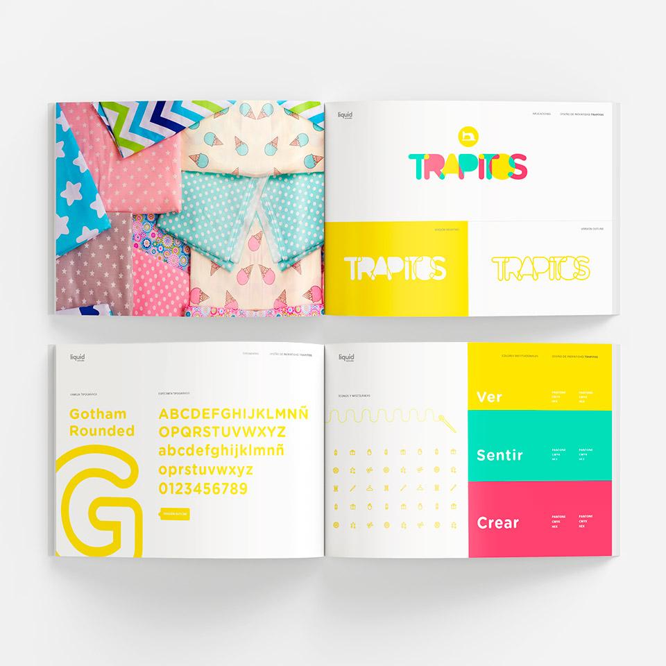 Diseño del Manual de marca para Trapitos, tienda de telas.