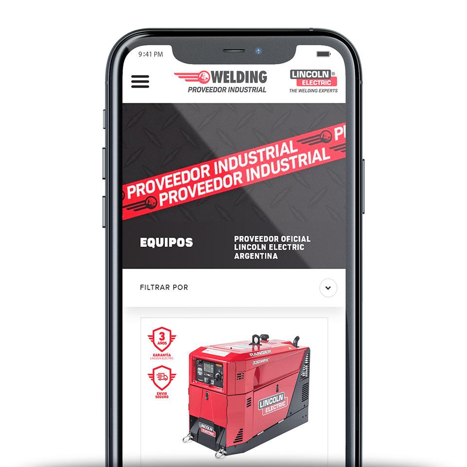 Vista del Catálogo de Productos de la Tienda Online de https://www.soldaduraswelding.com.ar/