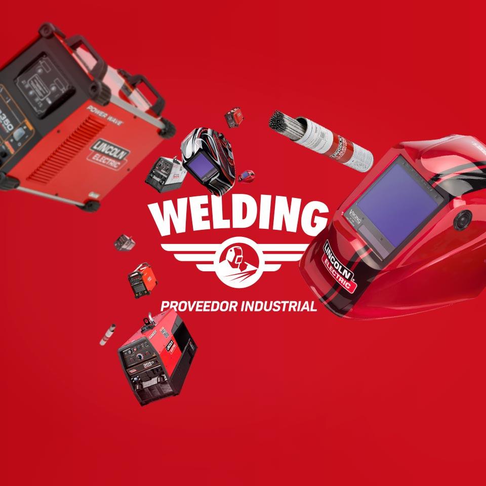 Portada del proyecto de Diseño de Identidad Corporativa, Branding y Desarrollo Web de: Welding, Proveedor Industrial.