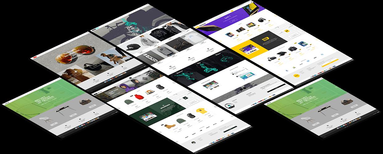 Portada catálogo de diseños de tiendas online
