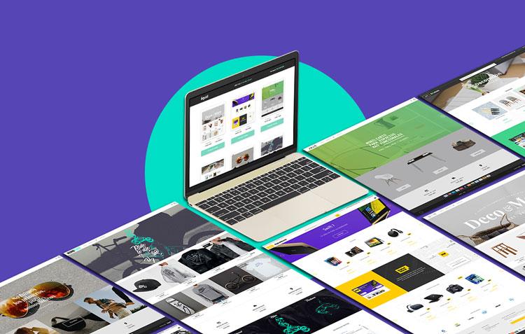 Catálogo de diseños propios de tiendas online de Liquid Estudio