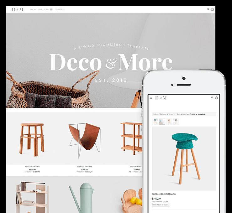 Ejemplo diseño tienda online DyM