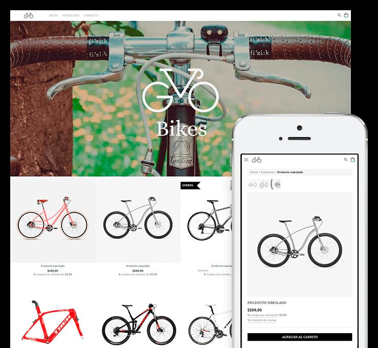 Ejemplo diseño tienda online GoBikes