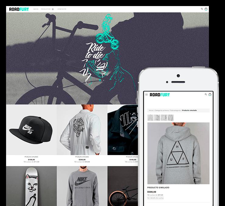 Ejemplo diseño tienda online RoadFury